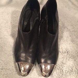 Chanel cap toe booties